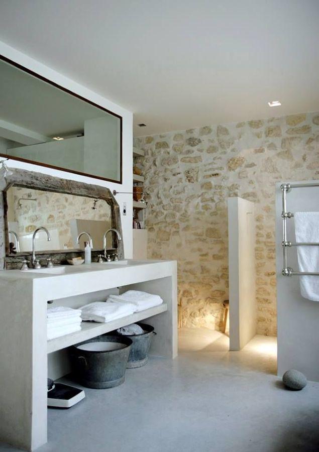 Foto ba o de piedra de anna gaya 931766 habitissimo - Piedra artificial para interiores ...