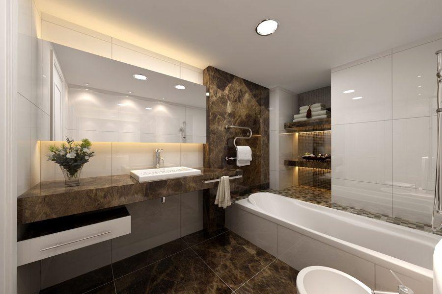 Baño en mármol