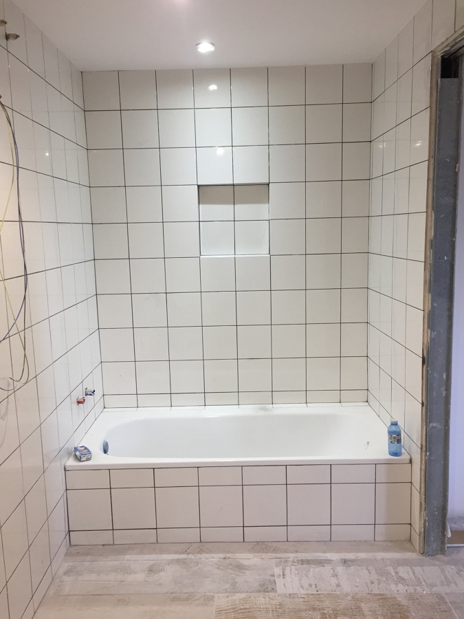 baño en proceso