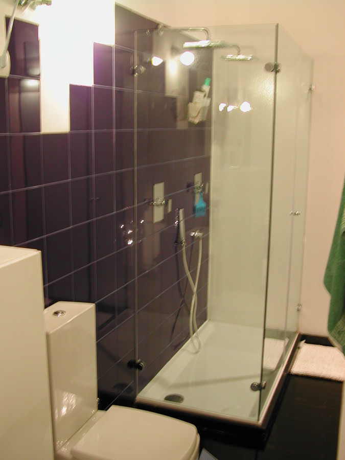 baño en suite con ducha doble