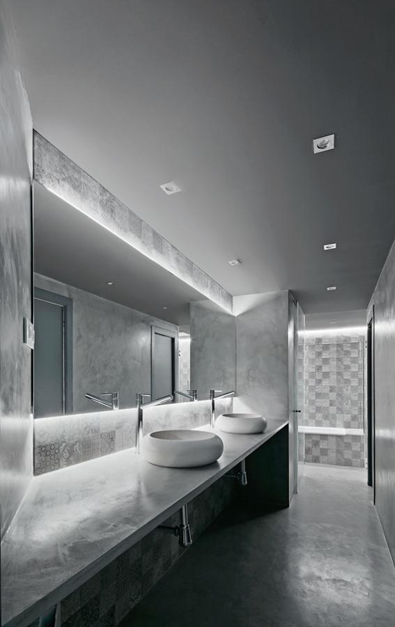 baño, espacio de lavabos