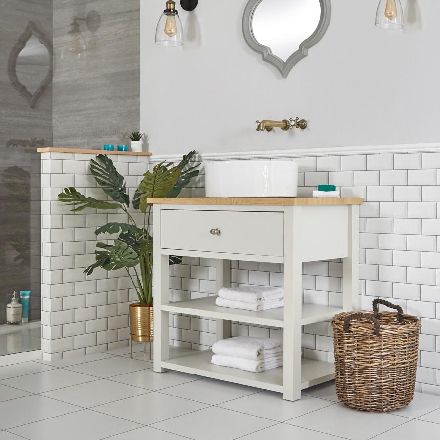 Baño estilo vintage con mueble