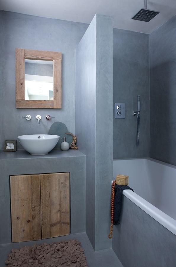 Foto ba o microcemento gris 1129140 habitissimo - Aplicar microcemento sobre azulejos ...