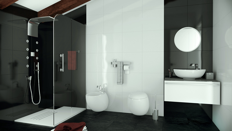 Foto ba o minimalista de mhelorza arquitectos 137415 for Banos modernos juveniles