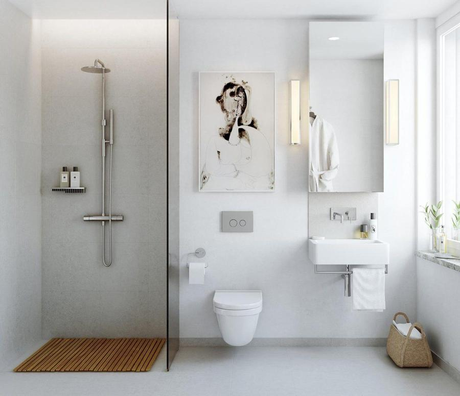 Baño moderno y lineas rectas