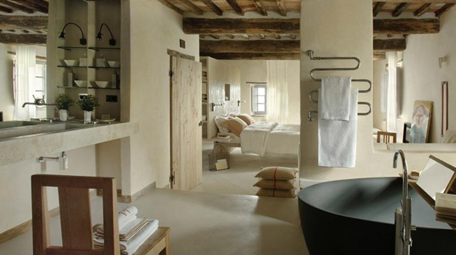 Baños Estilo Toscano:Lavabos de Piedra para Todos los Gustos y Estilos