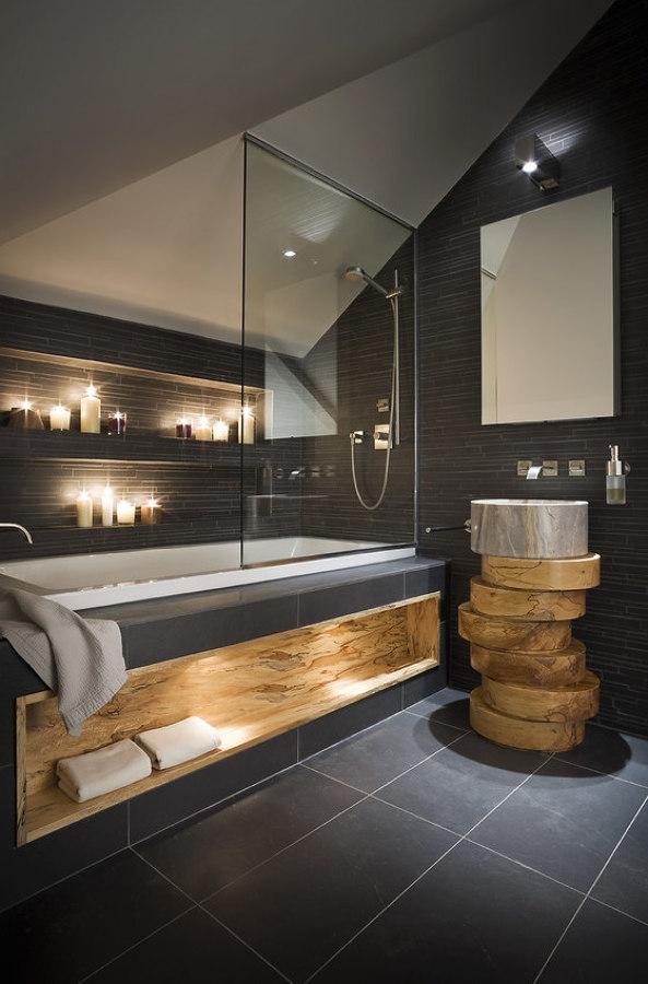 baño oscuro