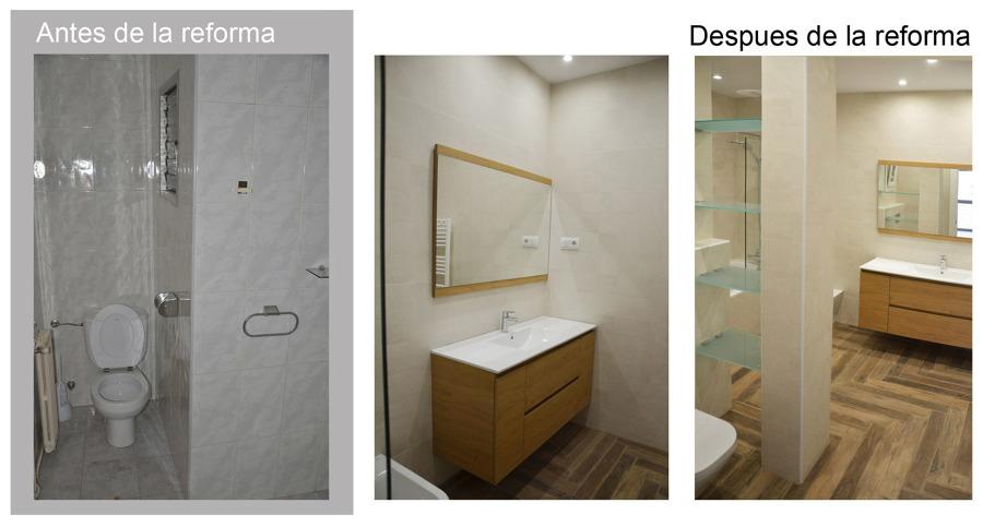 Baño principal antes y despues