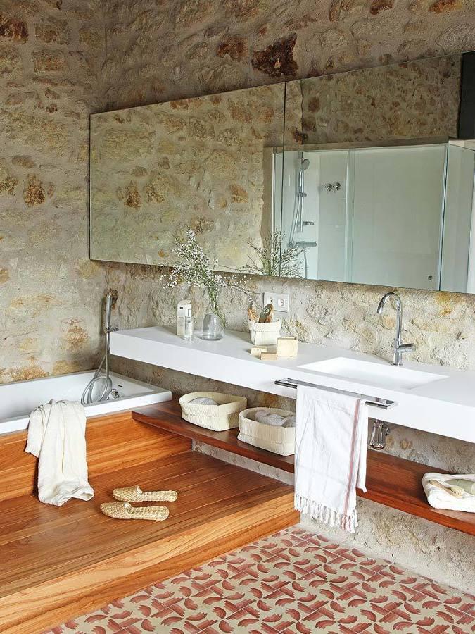 Foto ba o r stico paredes de piedra de maribel mart nez - Picas de piedra para bano ...