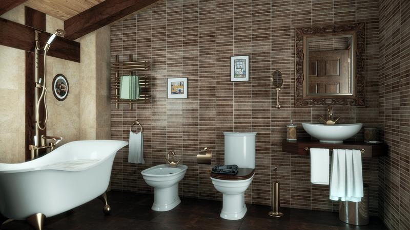 Baño Moderno Rustico:Baño rustico