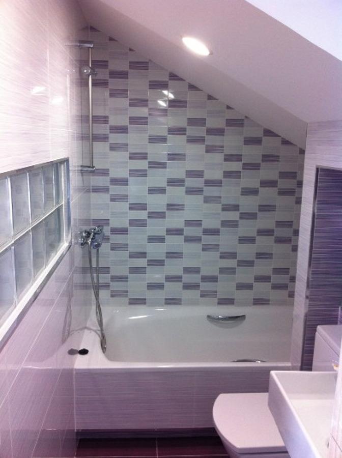 Hacer ba o bajo escalera - Papel para azulejos de bano ...