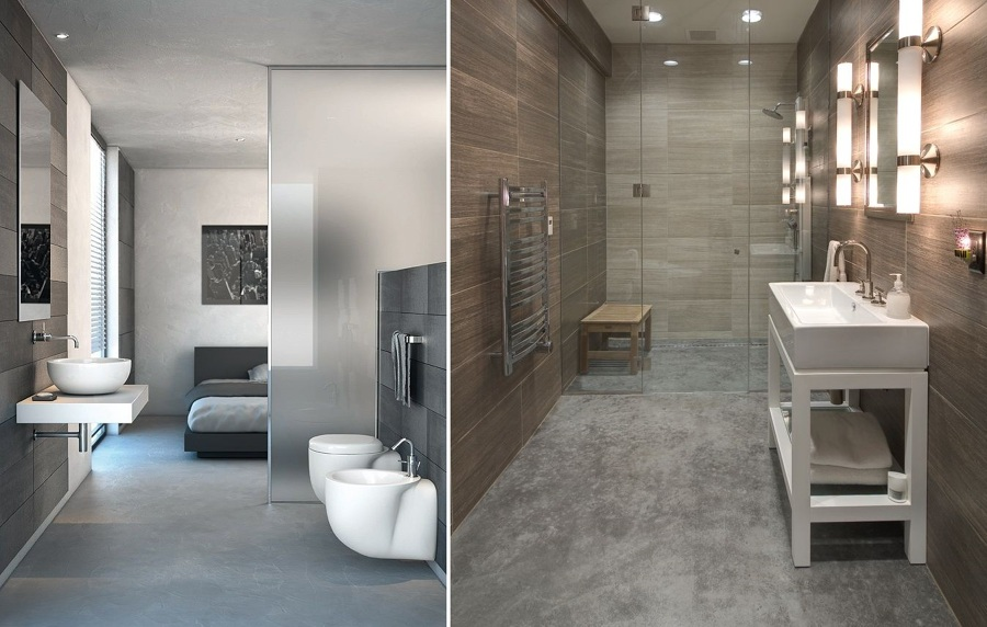 Ba os de cemento una opci n asequible y duradera ideas - Banos con estilo moderno ...