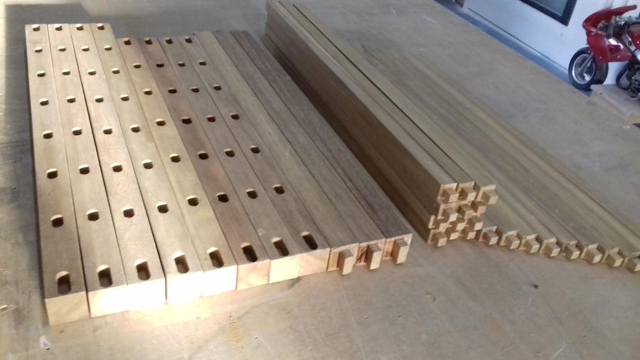 Barandilla abatible de madera