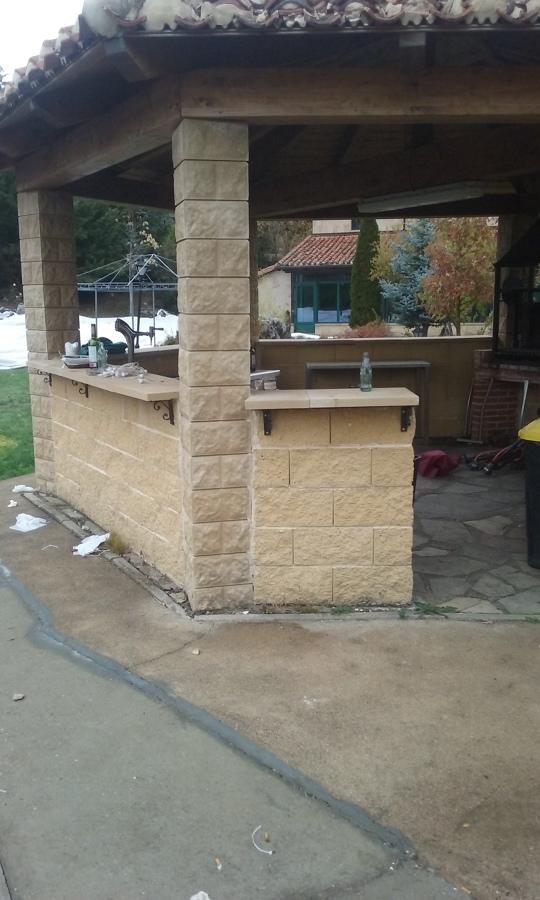 barra bar en terraza