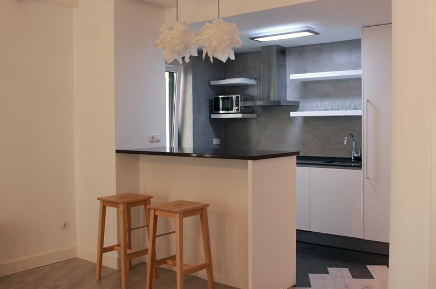 Barra de cocina a salón