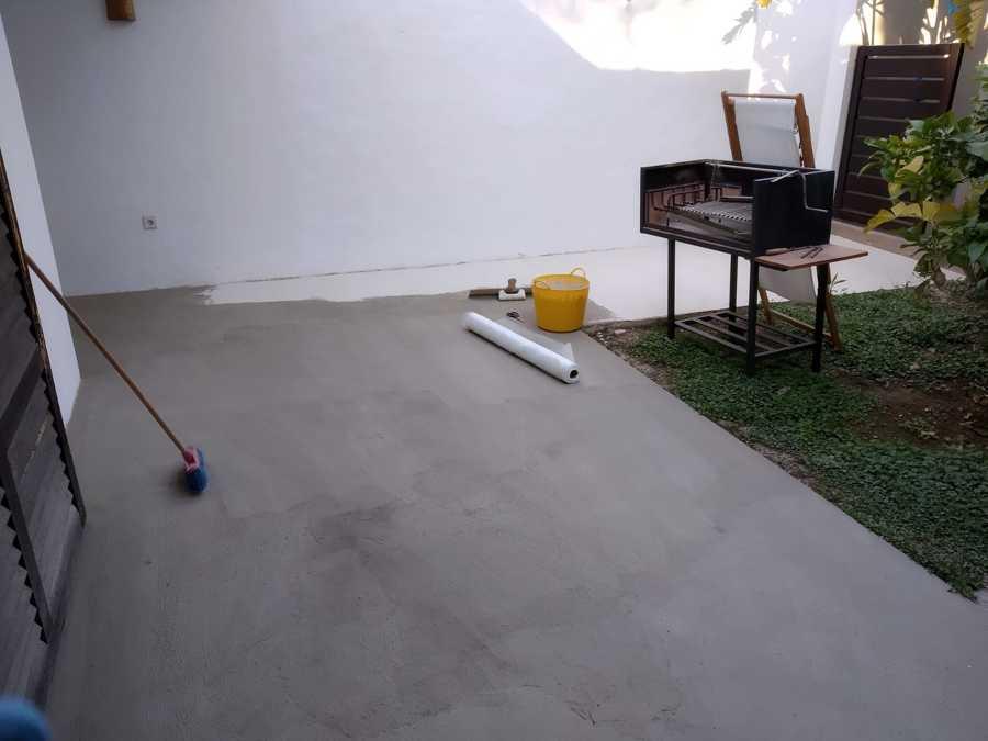 base y malla para reforzar el soporte del suelo despues de la impermeabilizacion