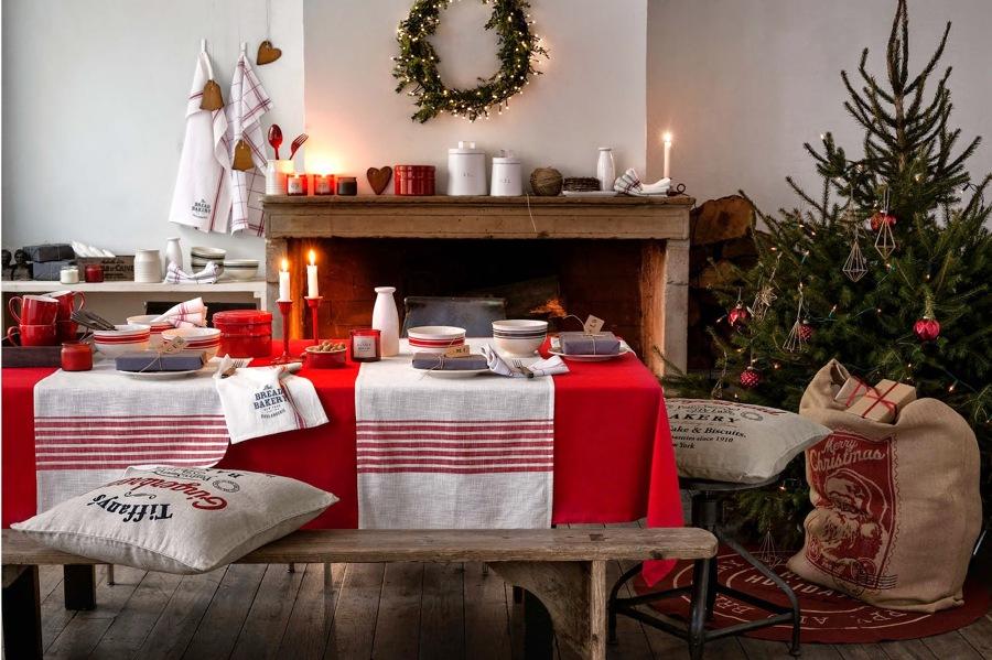 saln decorado para la navidad