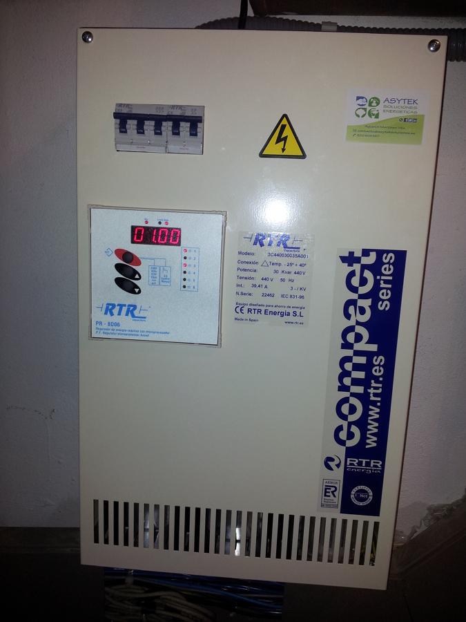 Batería de condensadores y optimización de potencia contratada