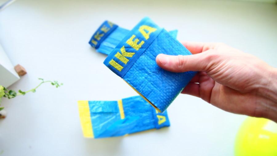 billetera azul ikea