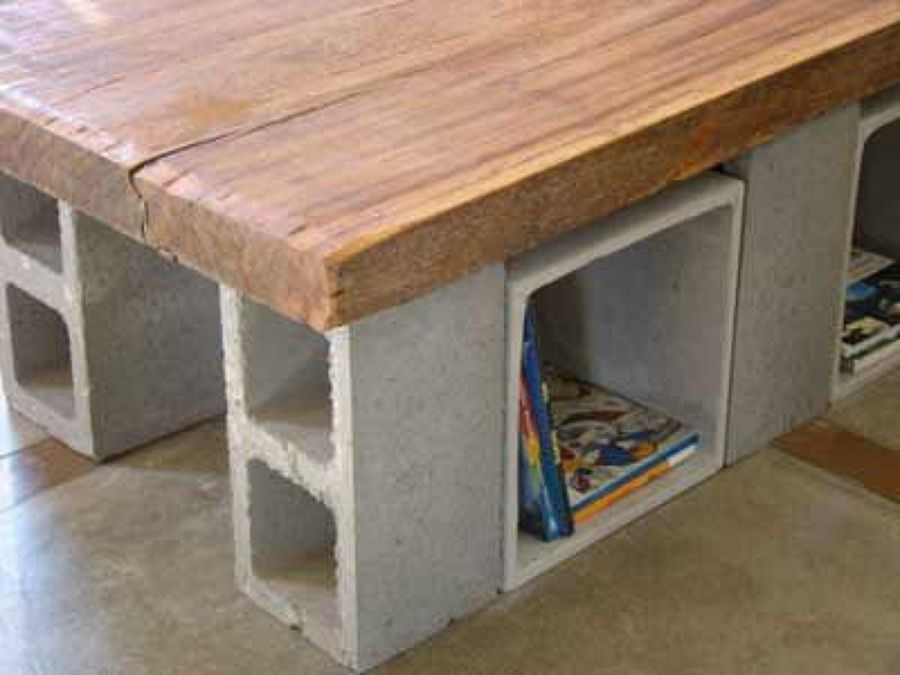 C mo realizar un sof de jard n con bloques de cemento for Bloques cemento para jardin