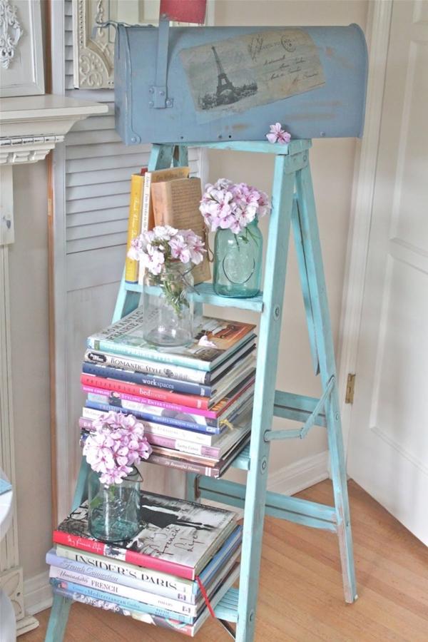 6 originales usos que le puedes dar a una escalera de mano for Scaletta decorativa