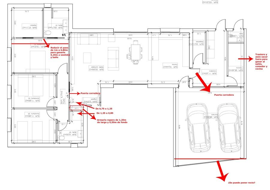 Bocetos preliminares de la vivienda