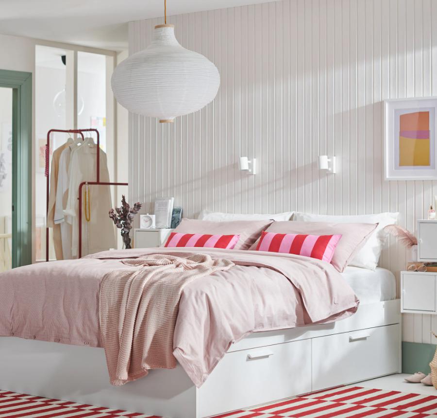 BRIMNES IKEA, cama con almacenaje IKEA.