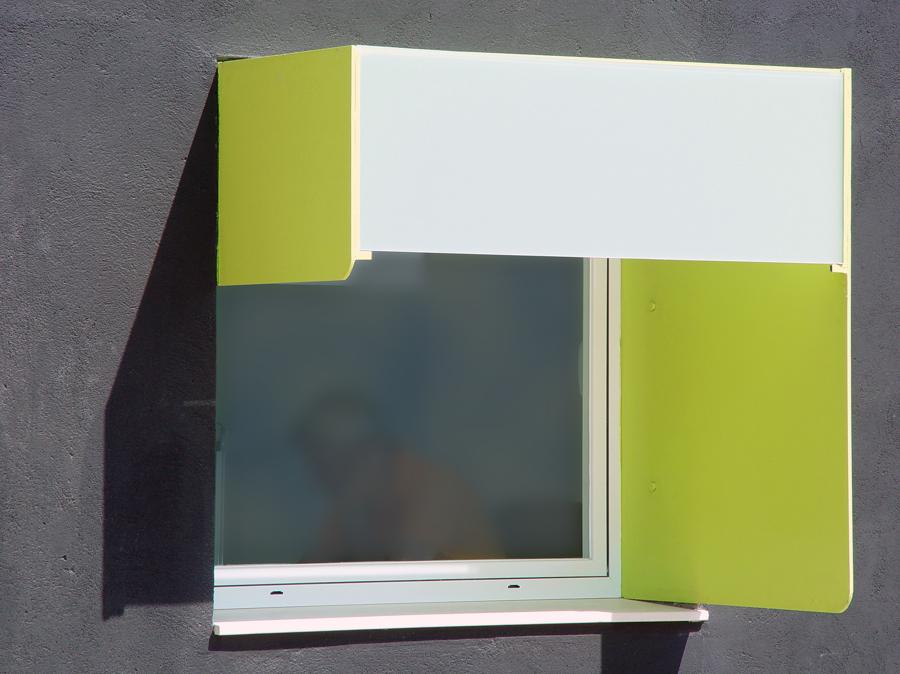 Brise soleil verde limón