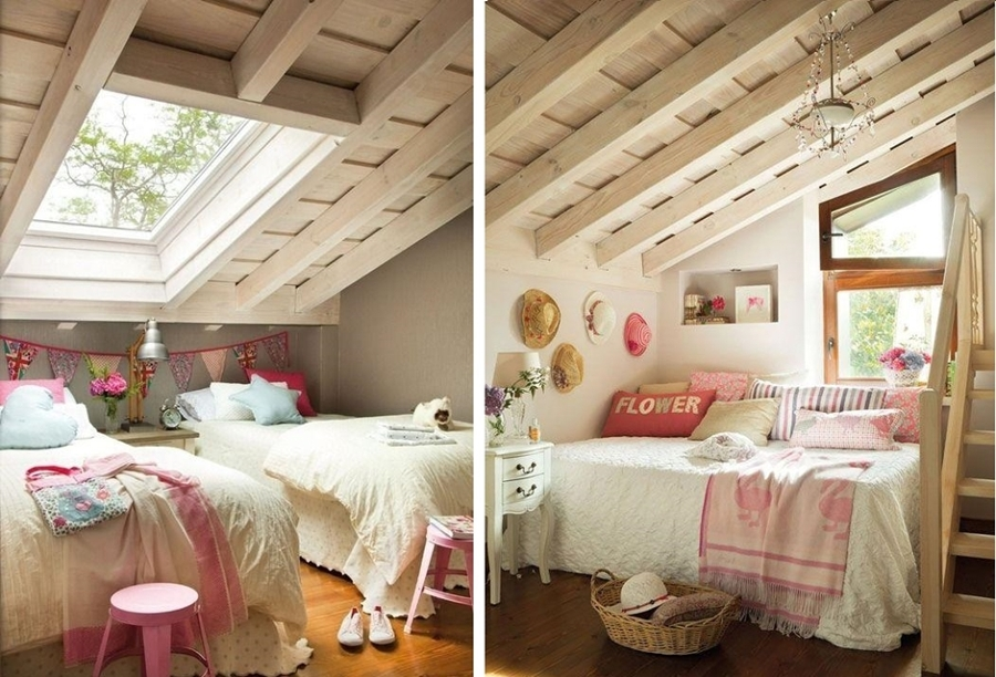 La belleza de los dormitorios abuhardillados ideas - Lamparas para buhardillas ...