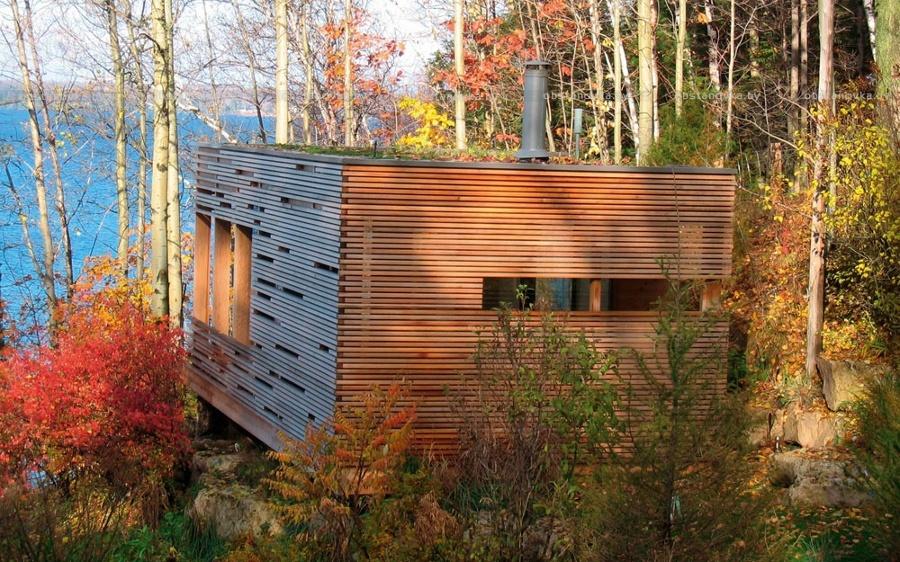 cabaña laminada de madera