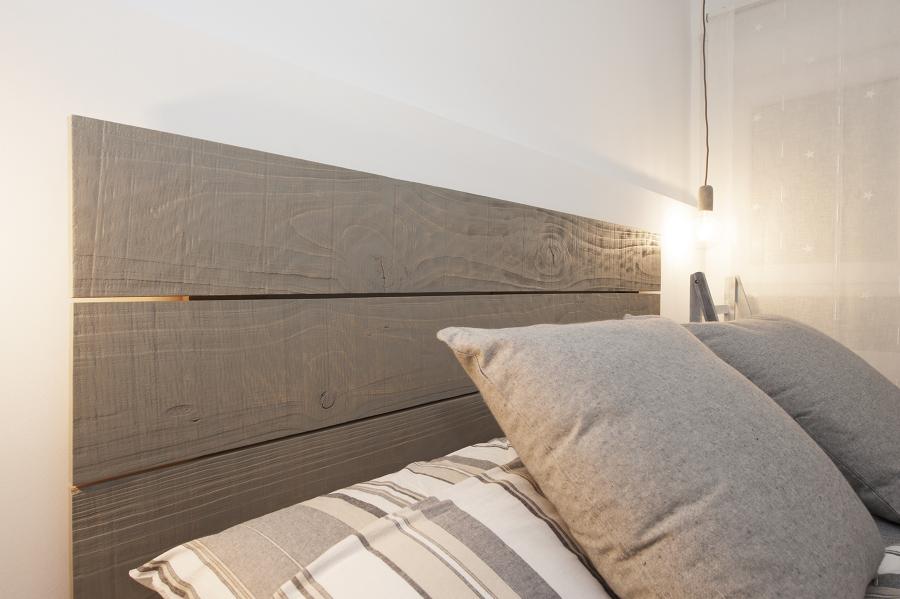 Cabecera de tablas de madera