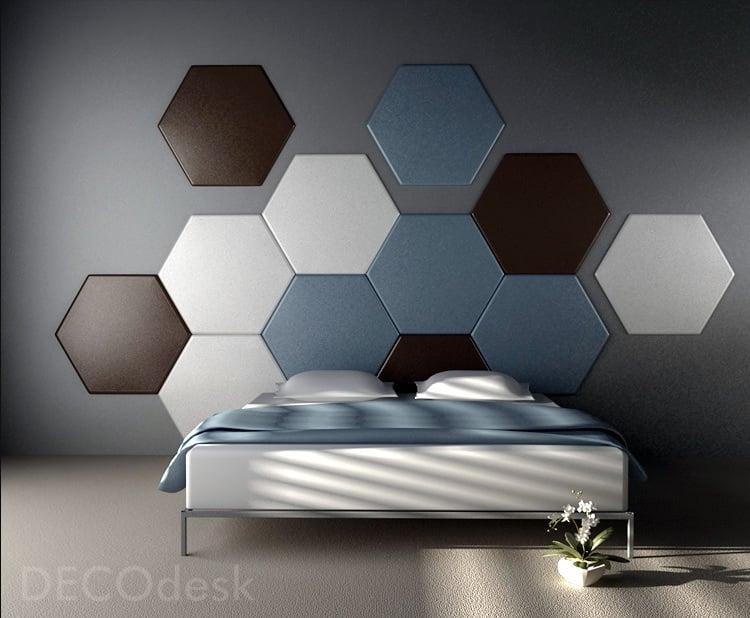 cabeceras de cama hotel hexagonos