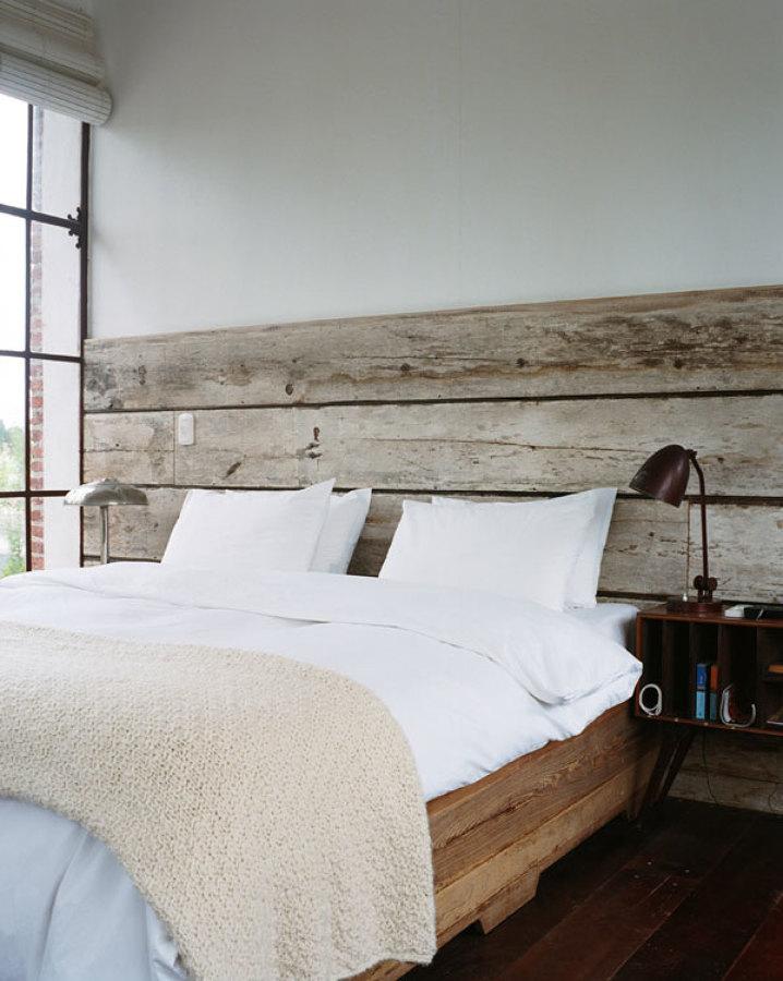 Foto cabecero con listones de madera de ver nica - Cabecero listones madera ...