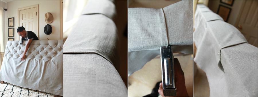 Construye un cabecero con telas