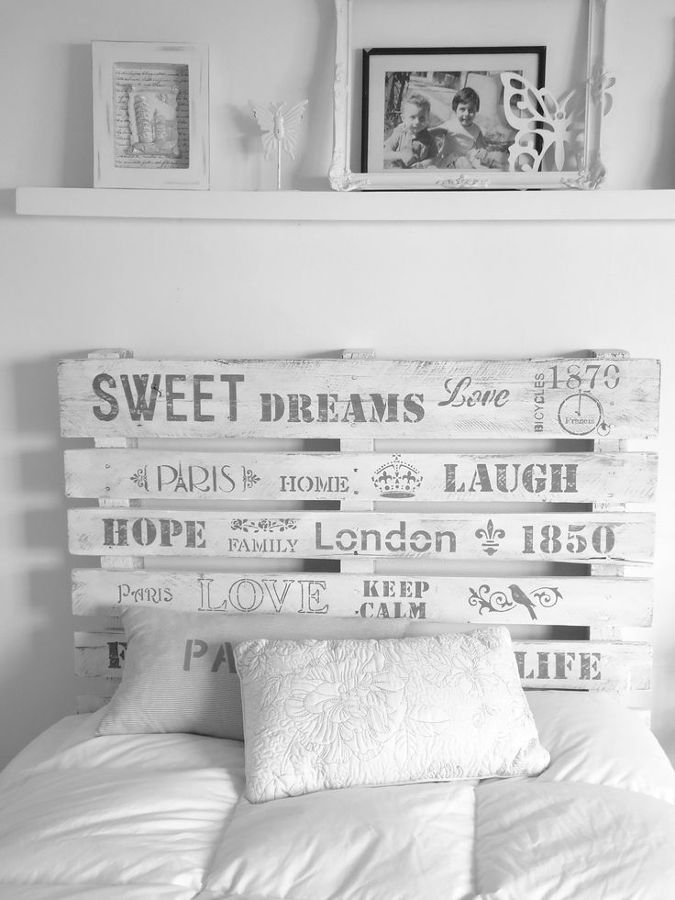 Foto cabecero de palets de anna gaya 895880 habitissimo - Cabeceros de cama hechos a mano ...