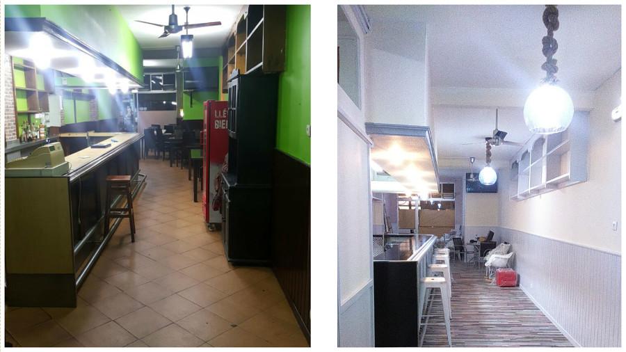 Cafetería Antes y Despues.