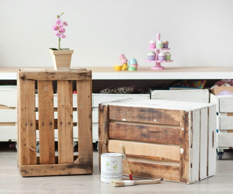 pintar cajas de madera diy