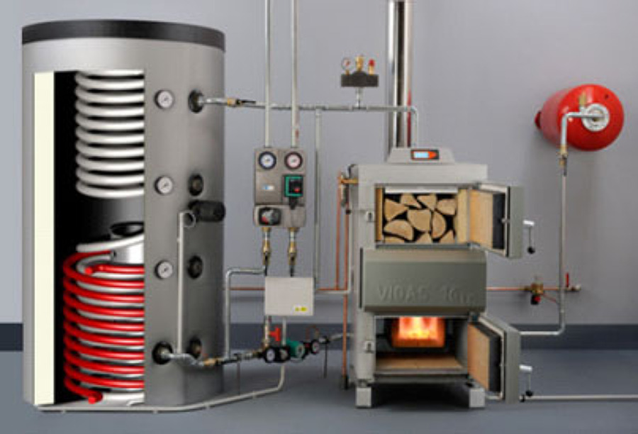 Calderas de le a y pellets ideas calefacci n for Calderas de lena para radiadores de agua