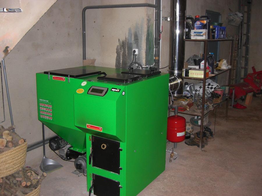 Caldera mixta biomasa le a ideas calefacci n - Caldera mixta lena pellet ...