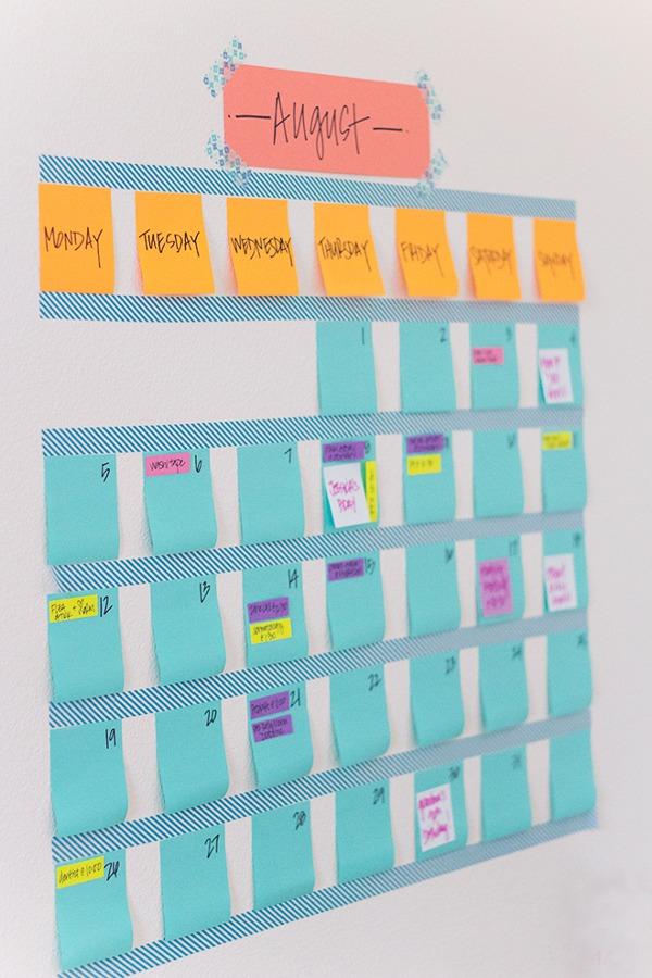 C mo hacer tu propio calendario ideas decoradores - Como hacer tu propio calendario ...
