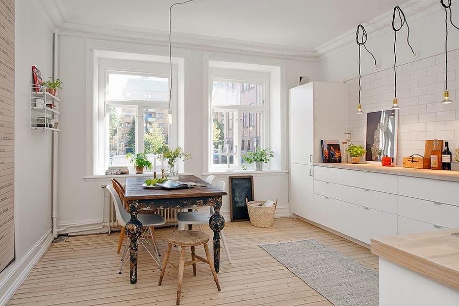 Es una buena idea unir la cocina y el sal n ideas - Cocinas nordicas ...