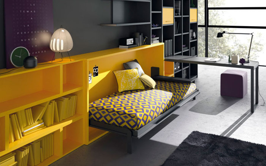 Camas ingeniosas para espacios reducidos ideas decoradores - Cama abatible matrimonio conforama ...