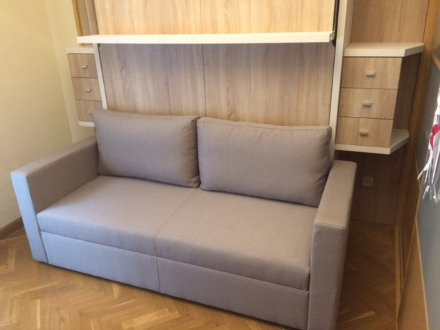 Sala de estar dormitorio y despacho ideas muebles - Despacho con sofa cama ...