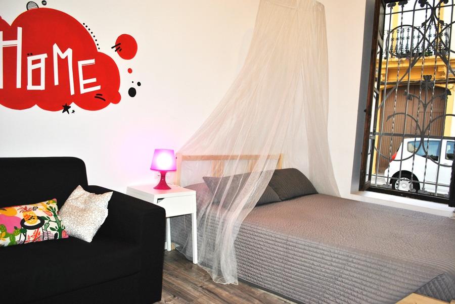 cama con mosquitera