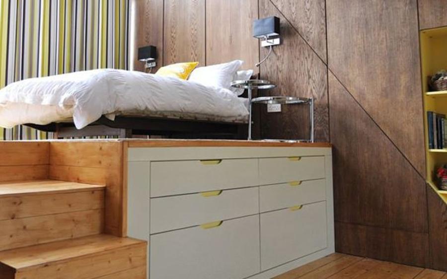 Cama en mueble 3