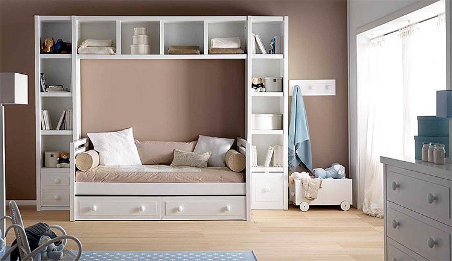 foto cama nido dormitorio infantil de arquitectos madrid