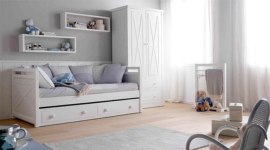 Foto cama nido dormitorio infantil de arquitectos madrid for Cama nido divan