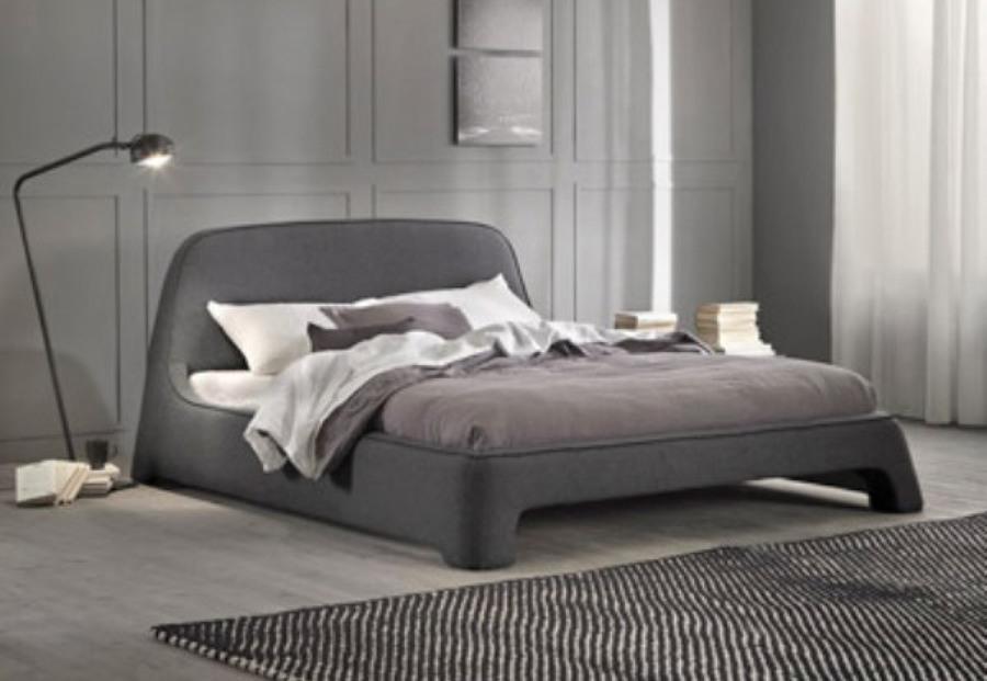 Cama gris ideas muebles for Cama tapizada