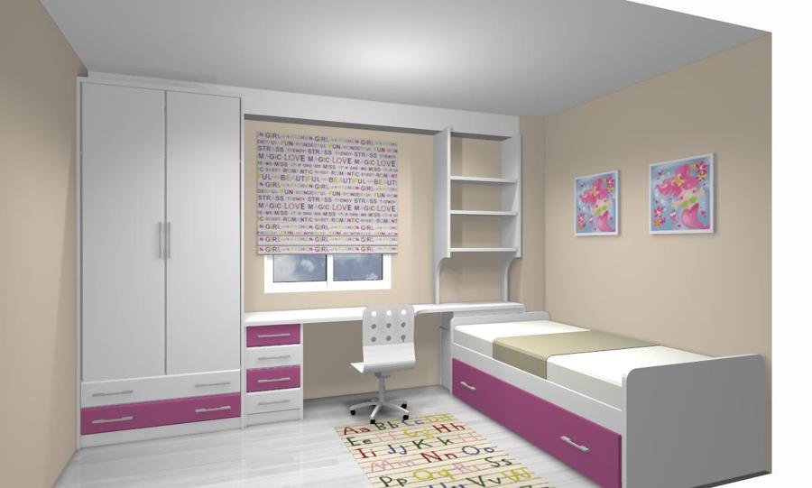 Habitaciones juveniles ideas muebles for Camas nidos para ninas