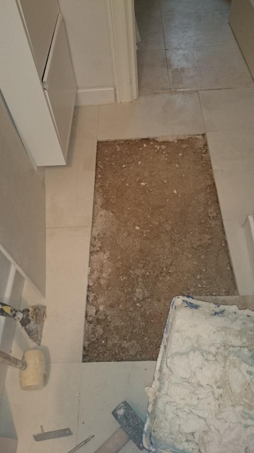 Cambiado de suelo con marmol